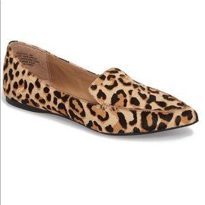 Steve Madden Feather L Leopard Loafer Sz 8